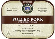pulled pork with barbecue sauce Niman Ranch Nutrition info