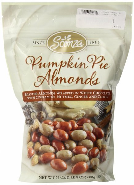 pumpkin pie almonds Sconza Nutrition info
