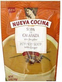 pumpkin soup with ginger Nueva Cocina Nutrition info