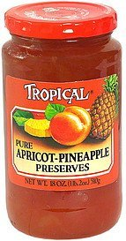 pure apricot-pineapple preserves Tropical Nutrition info
