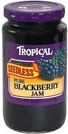 pure blackberry jam seedless Tropical Nutrition info