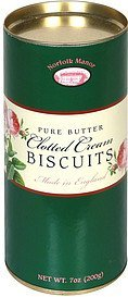 pure butter biscuits clotted cream Norfolk Manor Nutrition info