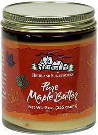 pure maple butter Highland Sugarworks Nutrition info