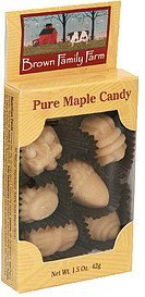 pure maple candy Brown Family Farm Nutrition info