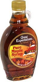 pure maple syrup Great Expectations Nutrition info