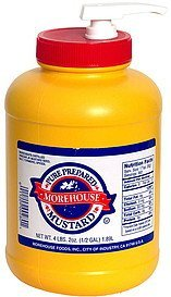 pure prepared mustard Morehouse Nutrition info