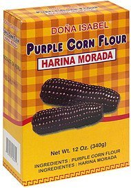 purple corn flour Dona Isabel Nutrition info