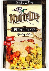 quality mix pepper gravy White Lily Nutrition info