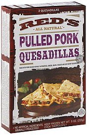 quesadillas pulled pork Reds Nutrition info