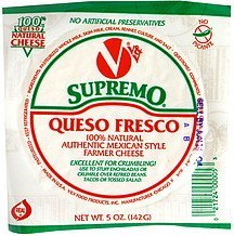 queso fresco Supremo Nutrition info