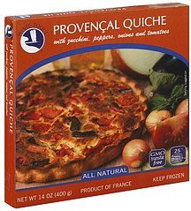 quiche provencal White Toque Nutrition info