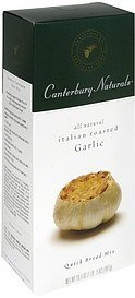 quick bread mix italian roasted garlic Canterbury Naturals Nutrition info