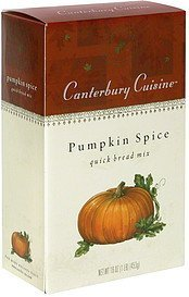 quick bread mix pumpkin spice Canterbury Cuisine Nutrition info