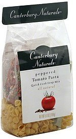 quick cook soup mix peppered tomato pasta Canterbury Naturals Nutrition info