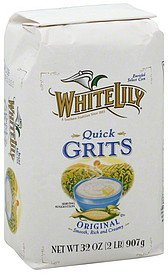 quick grits original White Lily Nutrition info