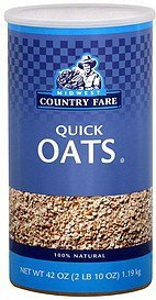 quick oats Midwest Country Fare Nutrition info