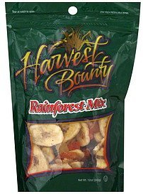 rainforest mix Harvest Bounty Nutrition info