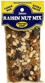 raisin nut mix deluxe Energy club Nutrition info