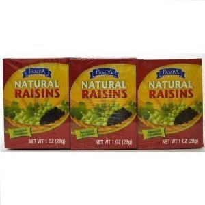 raisins natural Pampa Nutrition info
