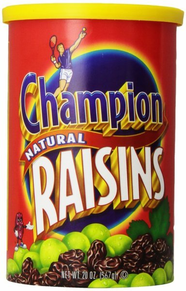 raisins natural Champion Nutrition info