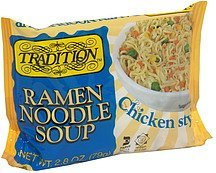 ramen noodle soup chicken style Tradition Nutrition info