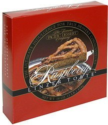 raspberry linzer torte The Famous Pacific Dessert Company Nutrition info