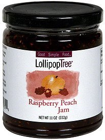 raspberry peach jam Lollipop Tree Nutrition info