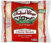 ravioli cheese, large round Italian Village Nutrition info