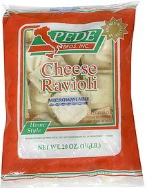 ravioli cheese Pede Bros Inc. Nutrition info