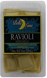 ravioli with cheese Bella Luna Nutrition info