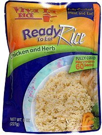 ready to eat rice chicken and herb flavored Viva La Rice Nutrition info