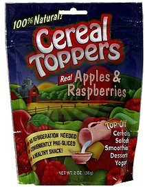 real apples & raspberries Cereal Toppers Nutrition info