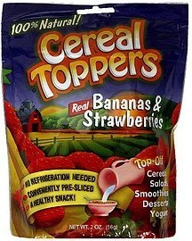 real bananas & strawberries Cereal Toppers Nutrition info