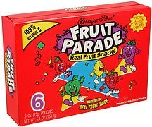 real fruit snacks Fruit Parade Nutrition info