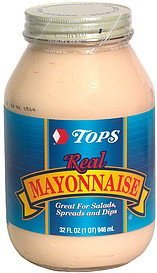 real mayonnaise Hy Tops Nutrition info