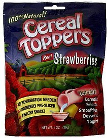 real strawberries Cereal Toppers Nutrition info