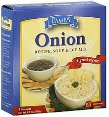 recipe, soup & dip mix onion Pampa Nutrition info