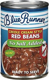 red beans creole cream style no salt added Blue Runner Nutrition info