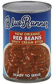 red beans new orleans, spicy cream style Blue Runner Nutrition info