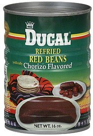 red beans refried, chorizo flavored Ducal Nutrition info