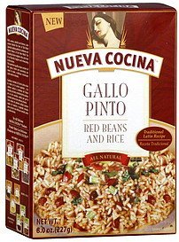 red beans & rice Nueva Cocina Nutrition info