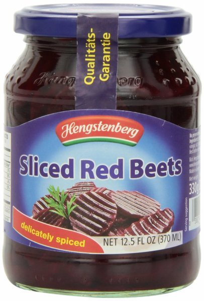 red beets sliced Hengstenberg Nutrition info