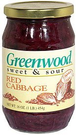red cabbage sweet & sour Greenwood Nutrition info