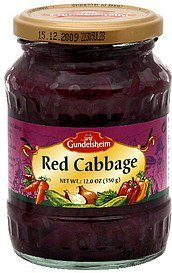 red cabbage Gundelsheim Nutrition info