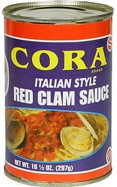 red clam sauce italian style Cora Nutrition info