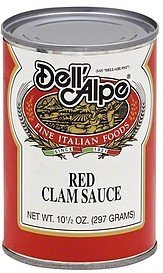 red clam sauce Dell'Alpe Nutrition info
