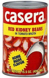 red kidney beans in tomato broth Casera Nutrition info