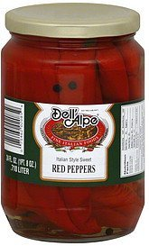red peppers italian style sweet Dell'Alpe Nutrition info