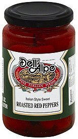red peppers roasted, italian style sweet Dell'Alpe Nutrition info