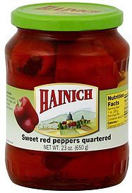 red peppers sweet, quartered Hainich Nutrition info